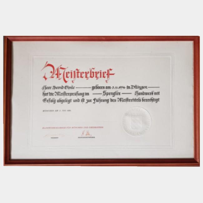Bernd Ehnle – Meister Spengler