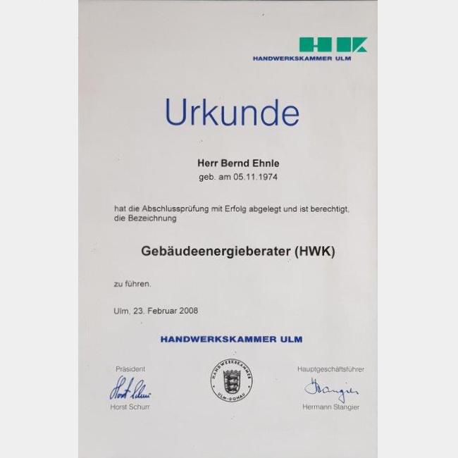 Gebäudeenergieberater (HWK)