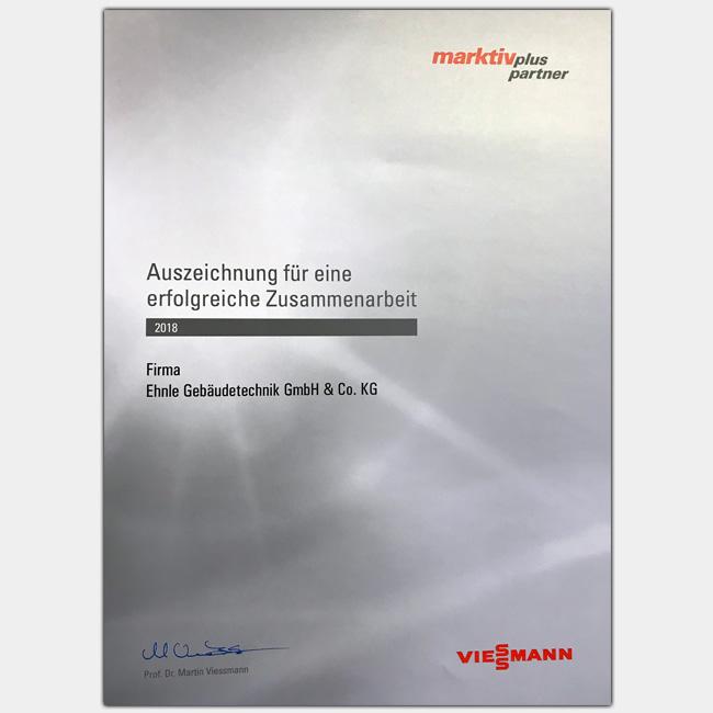 Ehnle ist offizieller Marktpartner der Viessmann Group